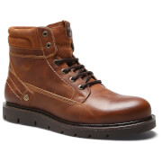 Wrangler Men's Tucson Leather Boots - Cognac - UK 10/EU 44 - Brown