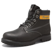 Wrangler Men's Hunter Leather Lace Up Boots - Black - UK 10/EU 44 - Black