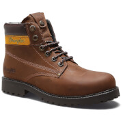 Wrangler Men's Hunter Leather Lace Up Boots - Dark Brown - UK 6/EU 40 - Brown