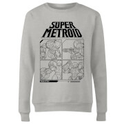 Nintendo Super Metroid Instructional Panel Damen Pullover - Grau