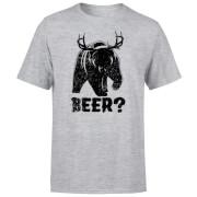 Beershield Beer Bear Deer T-Shirt - Grey