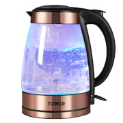 Tower T10021 1.7L Illuminated Kettle - Rose Gold