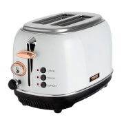 Tower T20016W 2 Slice Toaster - White/Rose Gold
