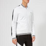 Polo Ralph Lauren Men's Bomber Collar Track Top - Pure White - L - White
