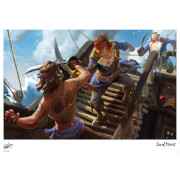 Sea Of Thieves - Clashing Cutlasses Limited Edition Art Print Measures 41.91 x 29.72cm