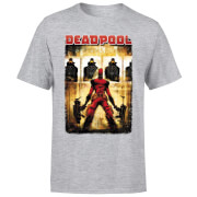 T-Shirt Homme Deadpool (Marvel) Cible - Gris