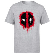 Marvel Deadpool Splat Face T-Shirt - Grey