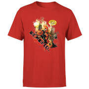 T-Shirt Homme Deadpool (Marvel) Outta The Way Nerd - Rouge