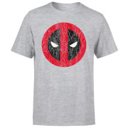 Marvel Deadpool Cracked Logo T-Shirt - Grey