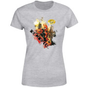 T-Shirt Femme Deadpool (Marvel) Outta The Way Nerd - Gris