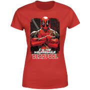 Marvel Deadpool Crossed Arms Women's T-Shirt - Red