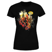 T-Shirt Femme Deadpool (Marvel) Outta The Way Nerd - Noir