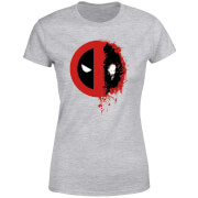 Marvel Deadpool Split Splat Logo Women's T-Shirt - Grey