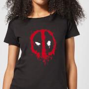 T shirt femme deadpool marvel splat face noir l noir