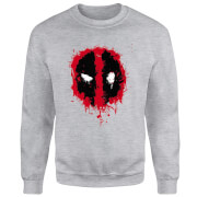 Marvel Deadpool Splat Face Sweatshirt - Grey