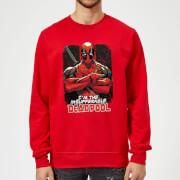 Marvel Deadpool Crossed Arms Sweatshirt - Rot