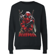 Marvel Deadpool Ready For Action Women's Sweatshirt - Black