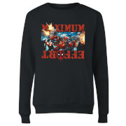 Marvel Deadpool Maximum Effort Damen Pullover - Schwarz