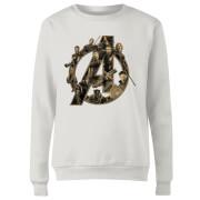 Sweat Femme Avengers Infinity War ( Marvel) Logo Avengers - Blanc