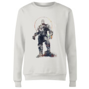 Marvel Avengers Infinity War Thanos Sketch Women's Sweatshirt - White
