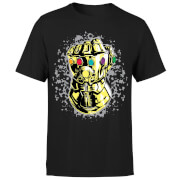 Marvel Avengers Infinity War Fist Comic T-Shirt - Schwarz