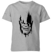 Marvel Avengers Infinity War Thanos Face Kids' T-Shirt - Grey