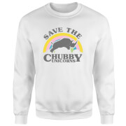 Save The Chubby Unicorns Sweatshirt - White