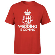 Keep Calm Wedding Coming T-Shirt - Red