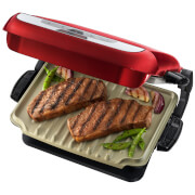 George Foreman 21611 1700W Evolve 5 Portion Grill with Omelette Plates - Red