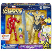 Hasbro Marvel Avengers 6 Inch Iron Man Vs. Thanos Battle Set