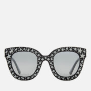 Gucci Women's Star Detail Cat Eye Sunglasses - Black/Silver