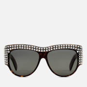 Gucci Women's Crystal Oval Sunglasses - Havana/Grey