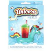 Inflatable Unicorn Drinks Holder - Blue