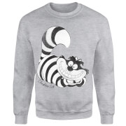 Disney Alice In Wonderland Cheshire Cat Mono Sweatshirt - Grey