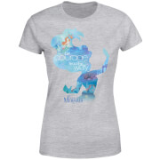 Disney Princess Filled Silhouette Ariel Women's T-Shirt - Grey