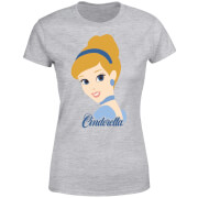 Disney Princess Colour Silhouette Cinderella Women's T-Shirt - Grey
