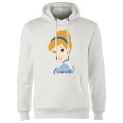 disney princess colour silhouette cinderella hoodie - white - m - white