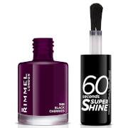 Купить Лак для ногтей Rimmel 60 Seconds Super Shine Nail Polish 8 мл (различные оттенки) - Black Cherries