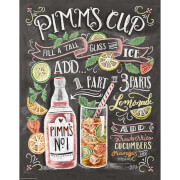 Lily & Val Pimms Cup Print