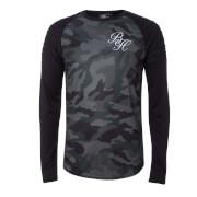 Beck & Hersey Men's Rib Panel Camo Long Sleeve T-Shirt - Khaki