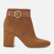 MICHAEL MICHAEL KORS Women's Alana Suede Heeled Ankle Boots - Acorn - US 10/UK 7 - Tan