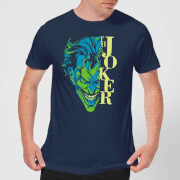 T-Shirt Homme Batman DC Comics - Joker Split - Bleu Marine