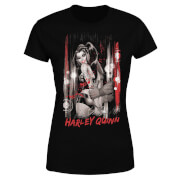 DC Comics Batman Harley Quinn Handcuffed Women's T-Shirt - Black