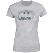 Camiseta DC Comics Batman Logo Spray - Mujer - Gris