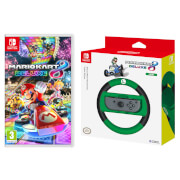 Mario Kart 8 Deluxe Game + Luigi Joy-Con Wheel