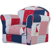 Kidsaw Mini Armchair Blue Patchwork