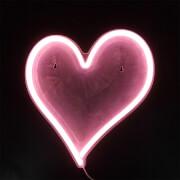 Pink Heart LED Neon Wall Light