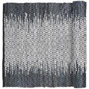 Broste Copenhagen Unnr Leather Cotton Rug - Natural Grey - 60cm x 90cm