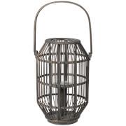 Image of Broste Copenhagen Bamboo Lantern - Dark Grey