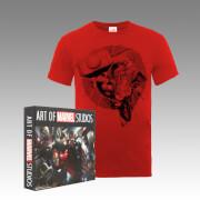 Thor Avengers Assemble T-Shirt and Art of Marvel Studios (4 Book Set) Bundle